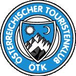 ÖTK Logo: Weißer Gipfel im blauen Feld, Du führst uns seit vielen Jahren hinauf in die herrliche Alpenwelt. Wo jung und glücklich wir waren. Das schlichte Zeichen in Weiß und Blau, erworben, erkämpft und erstritten, es schimmert oft durch des Lebens Grau, wenn Wunden wir unten erlitten. Mit Herz und mit Hand fürs Alpenland, so haben's gehalten die Alten … Mit dem Leben gerungen und Berge bezwungen … So haben gesungen wir Jungen!